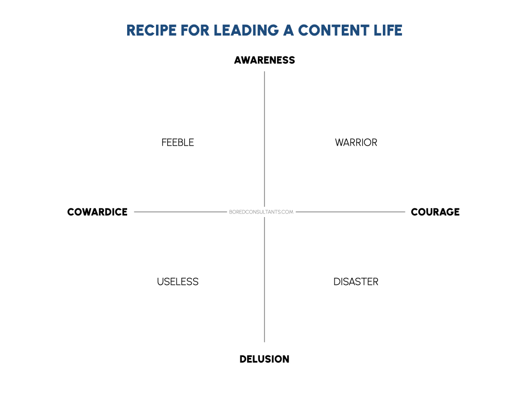 Awareness and Courage - Recipe for Content Life